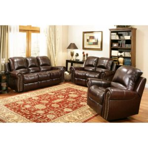 Abbyson Living sofa Superb Abbyson Living Berkshire 3 Piece Leather Reclining Furniture Set Collection