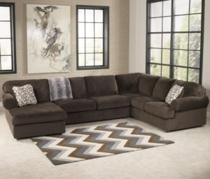 Ashley Sectional sofa Cool Signature Design by ashley Jessa Place Chocolate Casual Photograph