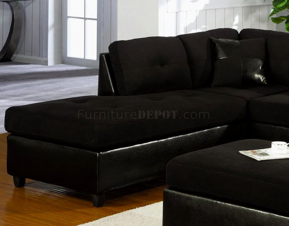 beautiful faux leather sectional sofa image-Modern Faux Leather Sectional sofa Architecture
