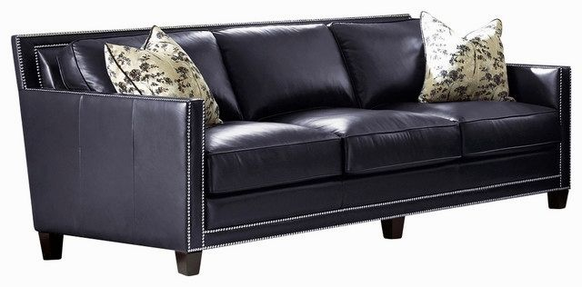 beautiful navy leather sofa photo-Luxury Navy Leather sofa Photo