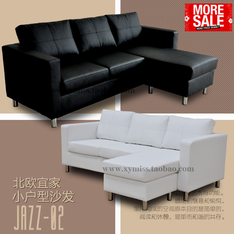best modern black leather sofa online-New Modern Black Leather sofa Picture