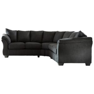 Black Sectional sofa Fascinating Signature Design by ashley Darcy Black Contemporary Sectional Image