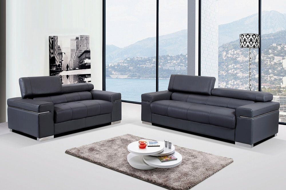 contemporary gray leather sofa image-Beautiful Gray Leather sofa Décor