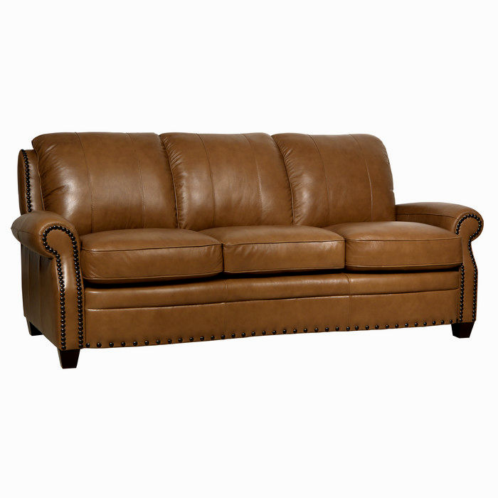 contemporary leather sofa with nailheads construction-Stunning Leather sofa with Nailheads Décor