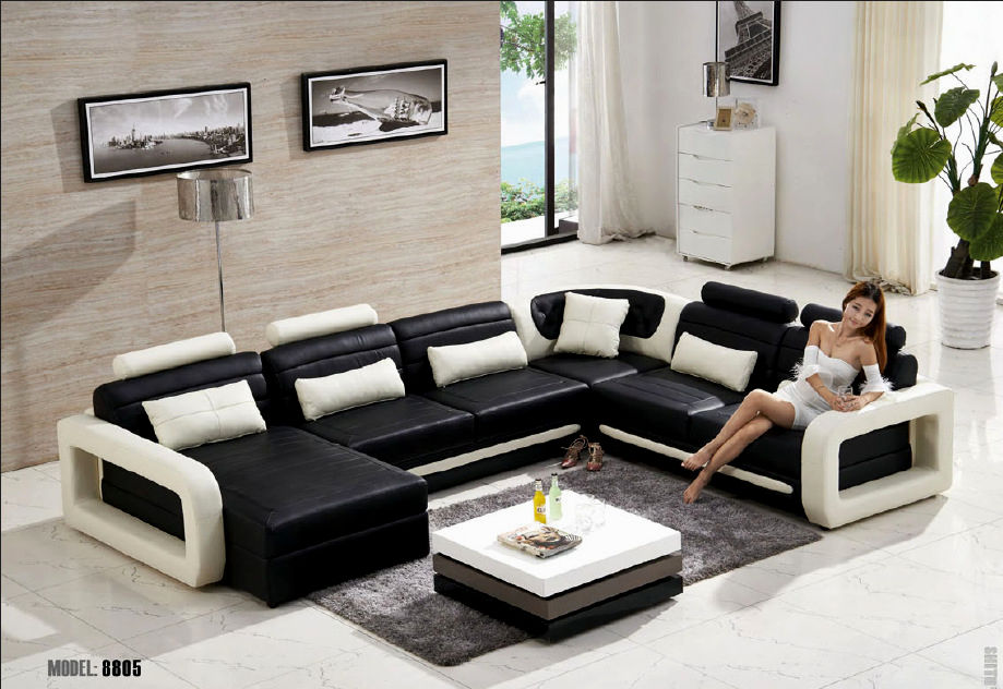 cool modern black leather sofa gallery-New Modern Black Leather sofa Picture