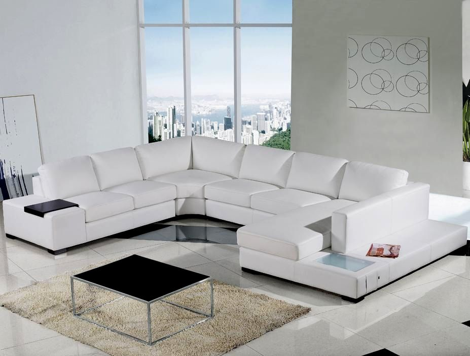 cute white leather sectional sofa décor-Fascinating White Leather Sectional sofa Design