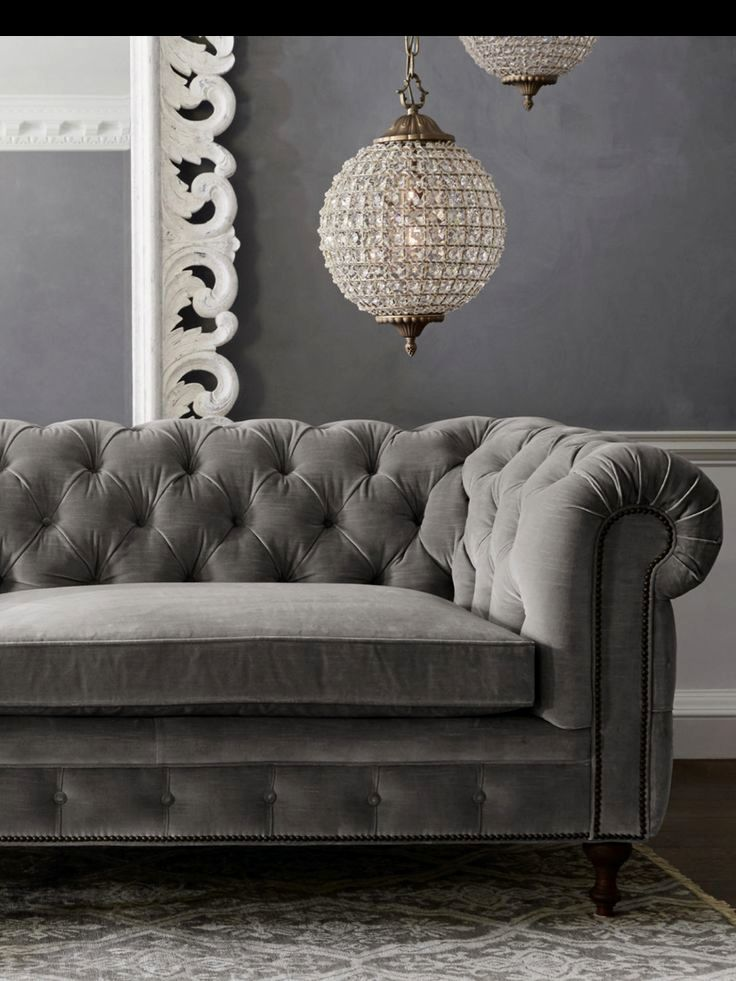 elegant velvet tufted sofa décor-Beautiful Velvet Tufted sofa Portrait