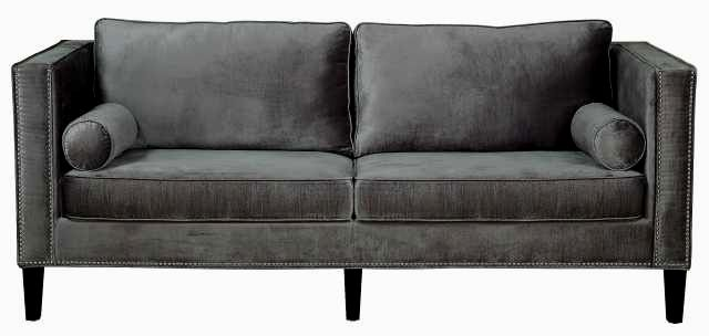 elegant velvet tufted sofa image-Beautiful Velvet Tufted sofa Portrait