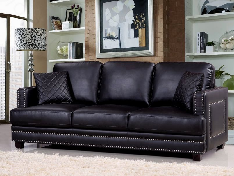 excellent leather sofa with nailheads photograph-Stunning Leather sofa with Nailheads Décor