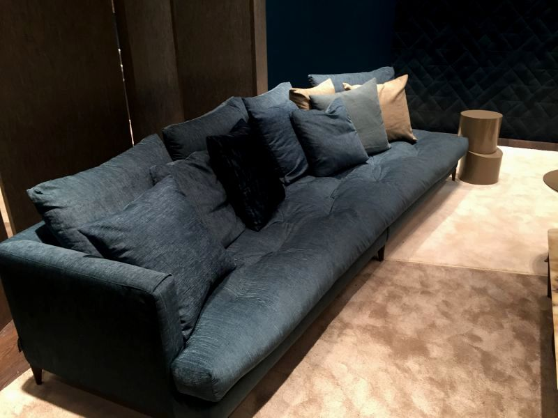 excellent navy leather sofa online-Luxury Navy Leather sofa Photo