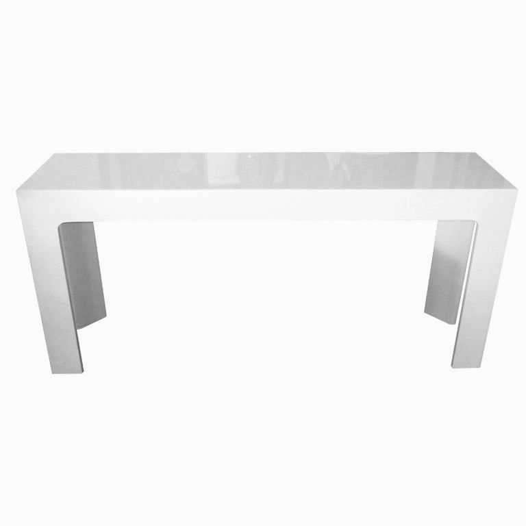 excellent white sofa table image-Fantastic White sofa Table Picture