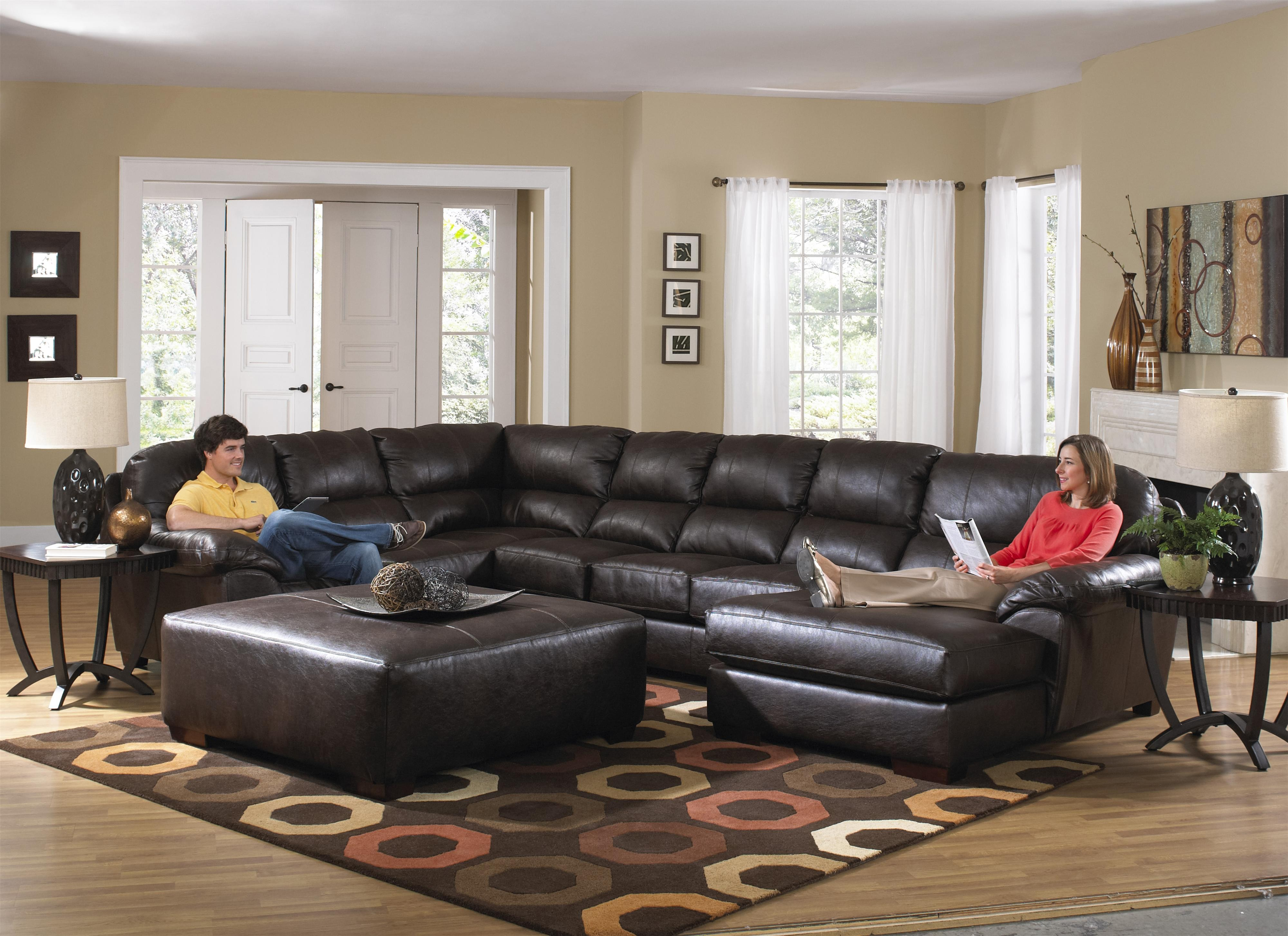Extra Large Sectional sofa Modern Extra Seven Seat Sectional by Jackson Furniture Picture