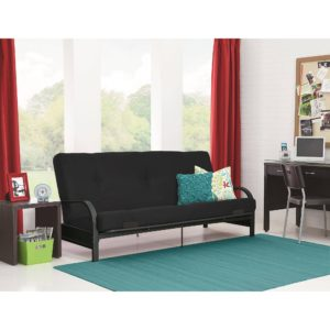 Futon sofa Bed Walmart Best Of Mainstays Black Metal Arm Futon with Full Size Mattress Multiple Décor
