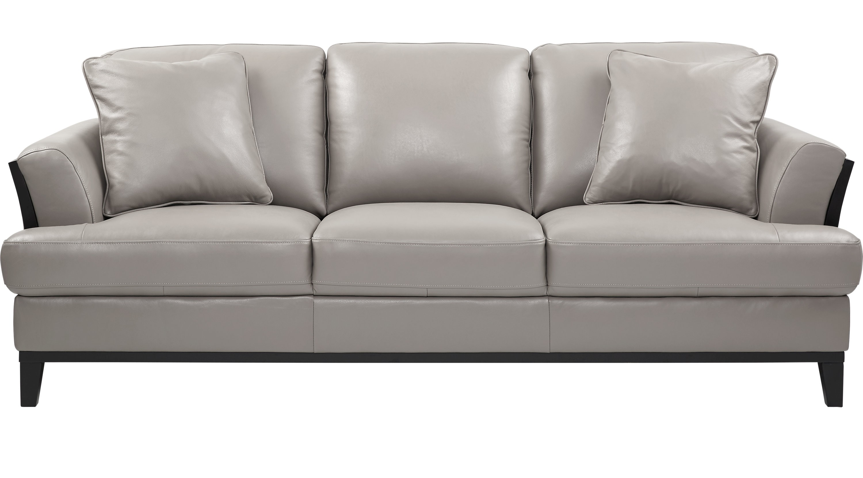 Gray Leather sofa Modern Augustina Gray Leather sofa Classic Transitional Inspiration