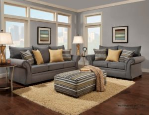 Gray sofa Set Lovely Jitterbug Gray sofa and Loveseat Decoration