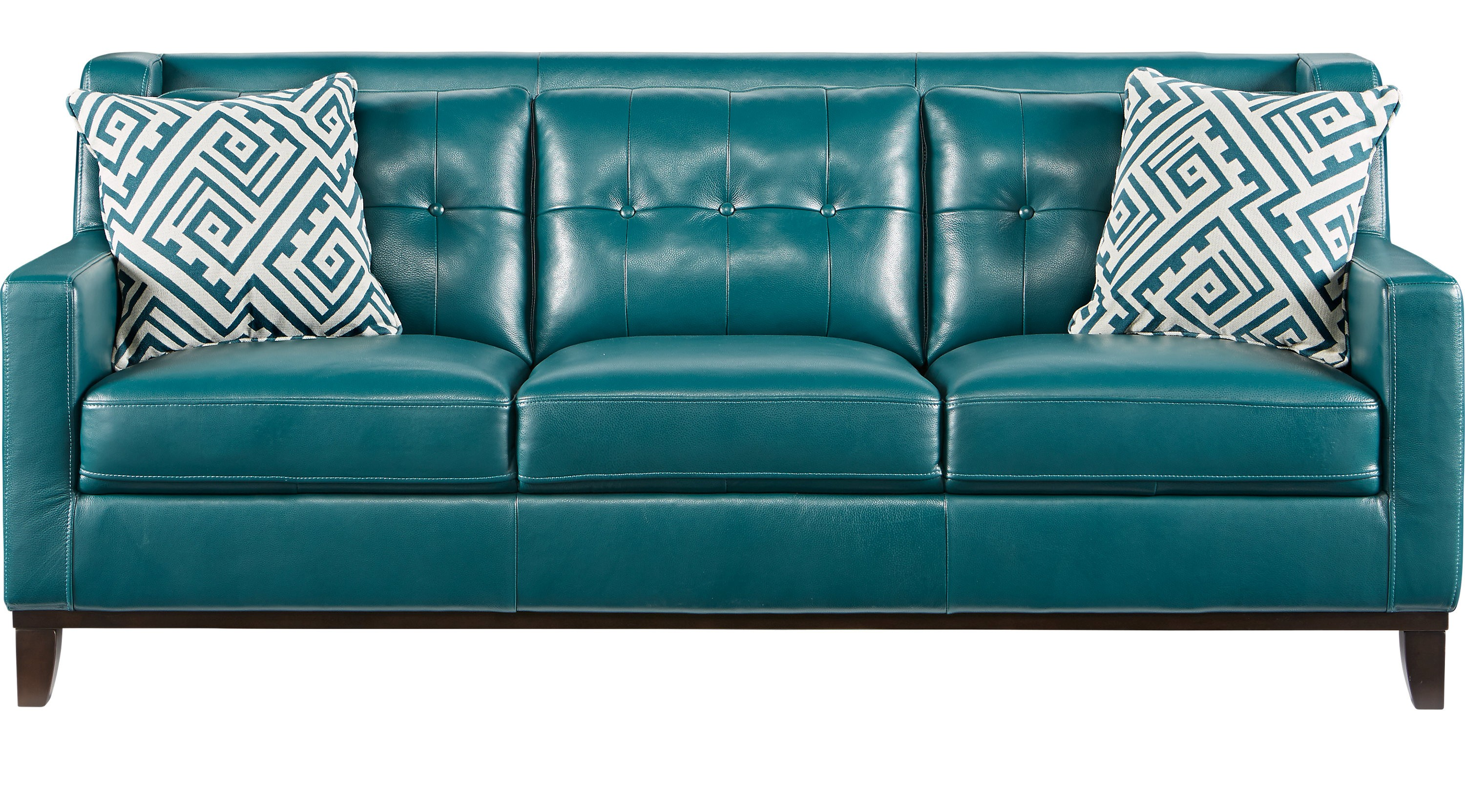 Green Leather sofa Fantastic Reina Green Leather sofa Classic Contemporary Model