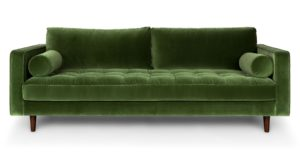 Green Velvet sofa Terrific Sven Grass Green sofa sofas Article Image