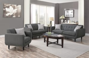 Grey sofa Set top Coaster Stansall 2pc Grey sofa Loveseat Set Dallas Tx Décor