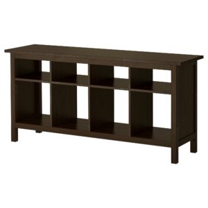 Ikea sofa Table Modern Hemnes Console Table Black Brown Ikea Décor