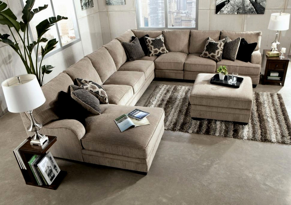Superbe Wonderful Oversized Sectional Sofa Decoration