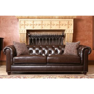 Leather Chesterfield sofa Finest Abbyson Carmela Dark Brown top Grain Leather Chesterfield sofa Ideas