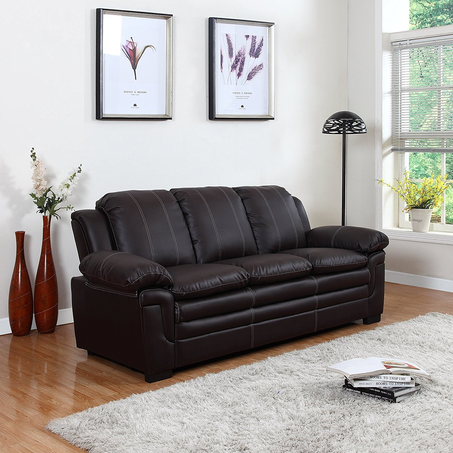 Leather sofa Set Modern Amazon Divano Roma Furniture Classic Bonded Leather sofa Set Inspiration