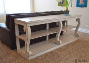 Long sofa Table Luxury Diy Extra Long sofa Table Console with Scroll Legs Her tool Belt Construction