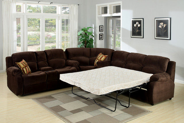 lovely sectional sofa with sleeper picture-Modern Sectional sofa with Sleeper Concept