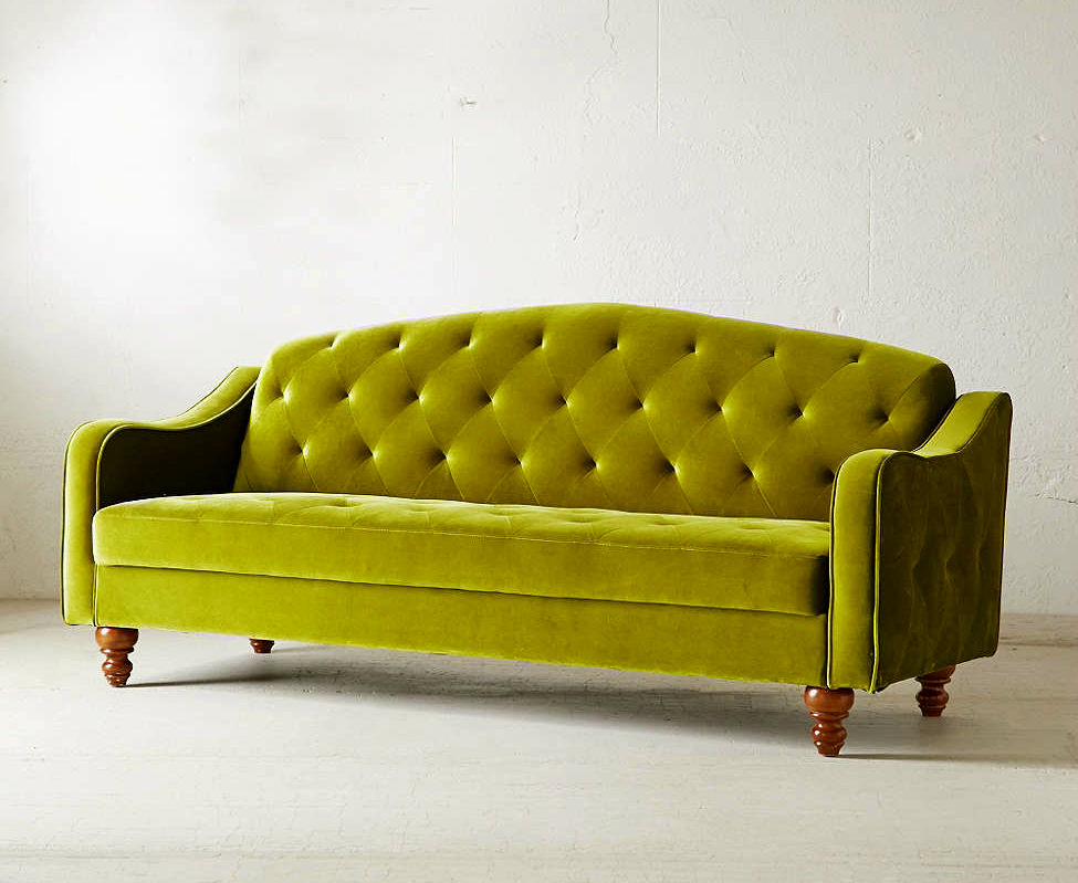 lovely velvet tufted sofa image-Beautiful Velvet Tufted sofa Portrait