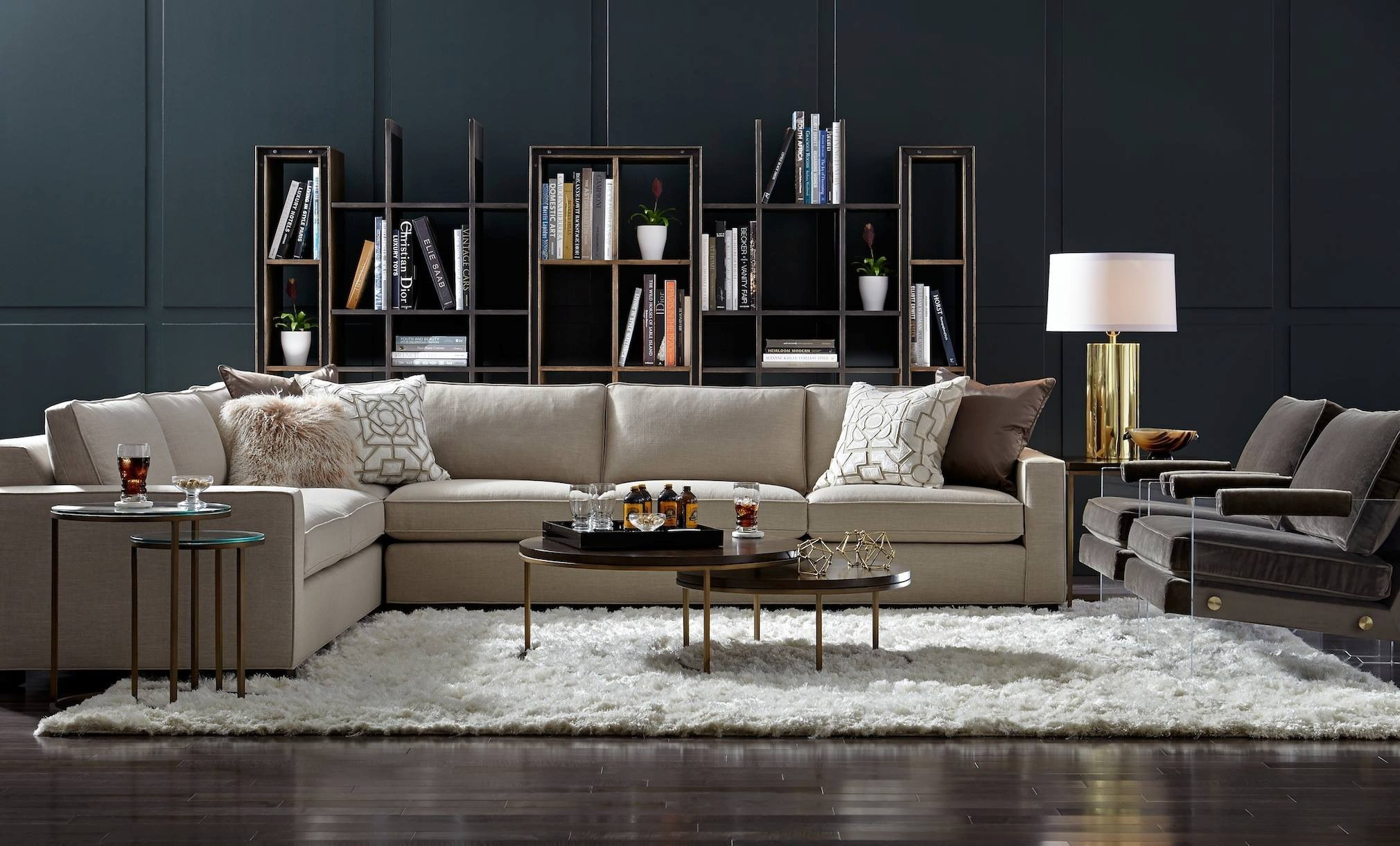 Lovely Mitc Gold Sectional Sofa Décor