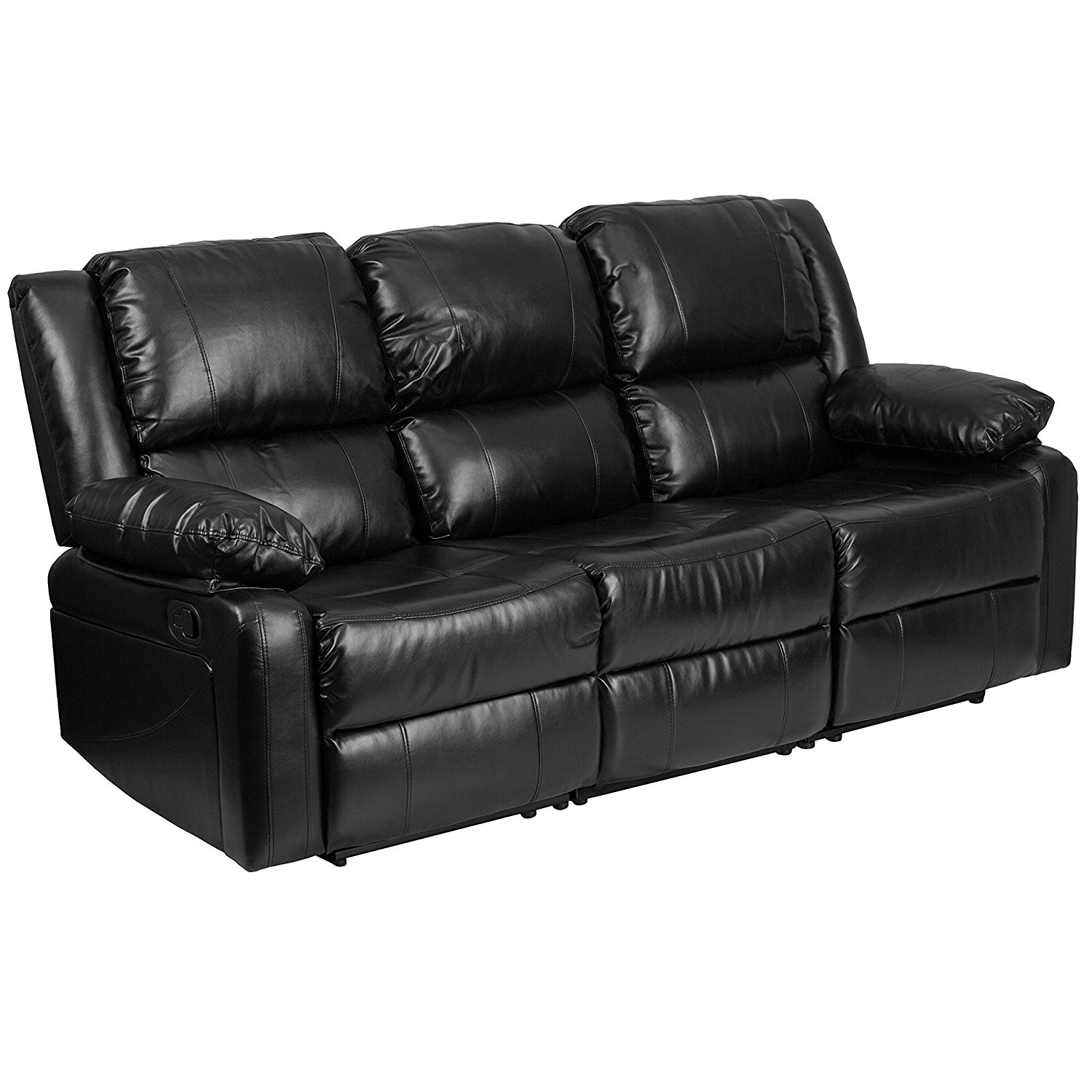 Modern Black Leather sofa Beautiful Amazon Flash Furniture Harmony Series Black Leather sofa with Pattern