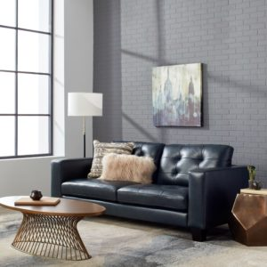 Navy Blue sofa Lovely Carmella top Grain Leather Navy Blue sofa Free Shipping today Construction