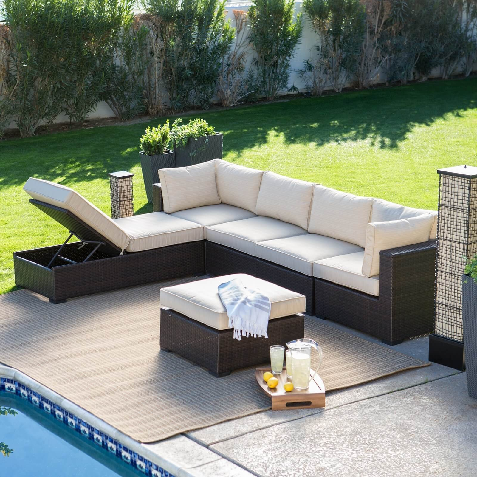 Unique Outdoor Furniture Sectional sofa Pattern - Modern ... on L Shaped Patio Ideas id=59583