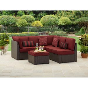 Outdoor Sectional sofa top Amazon Rush Valley 3 Piece Outdoor Sectional sofa Set Red Image