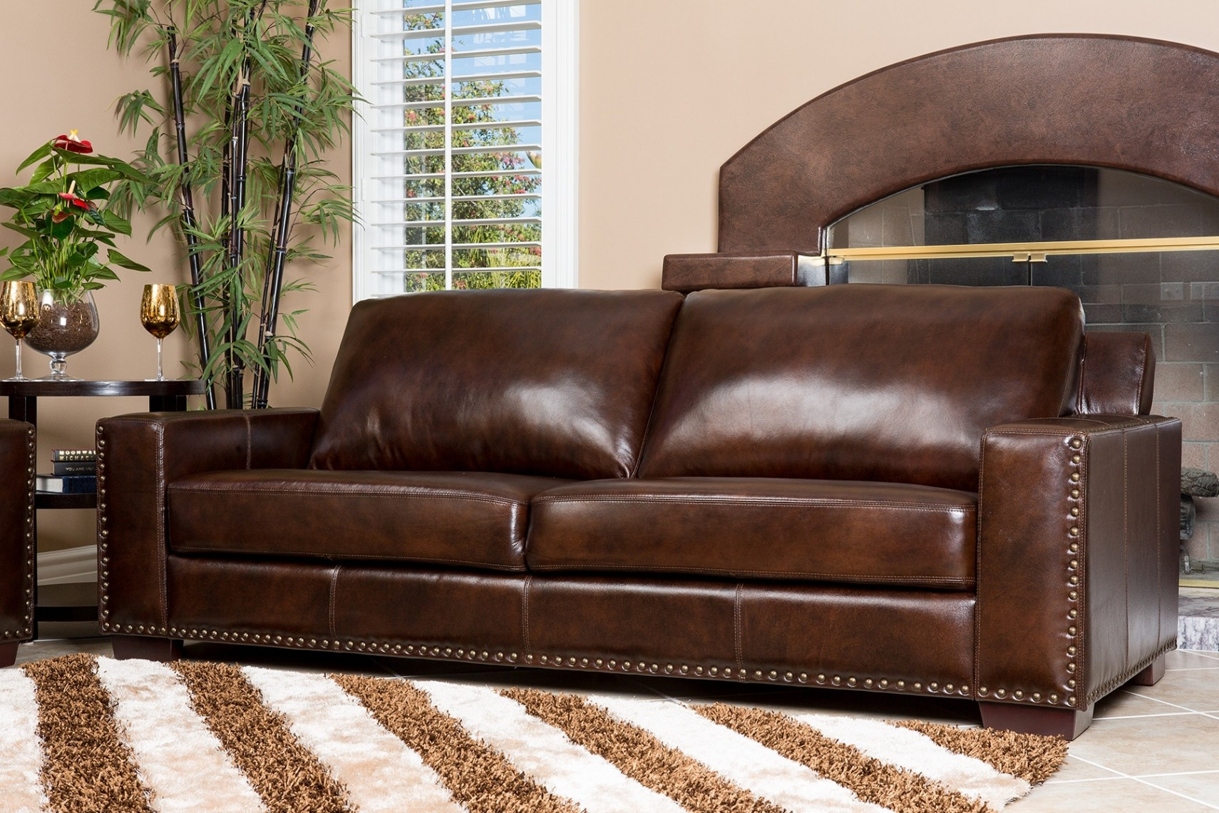 Finest Pottery Barn Leather Sofa Concept Modern Sofa