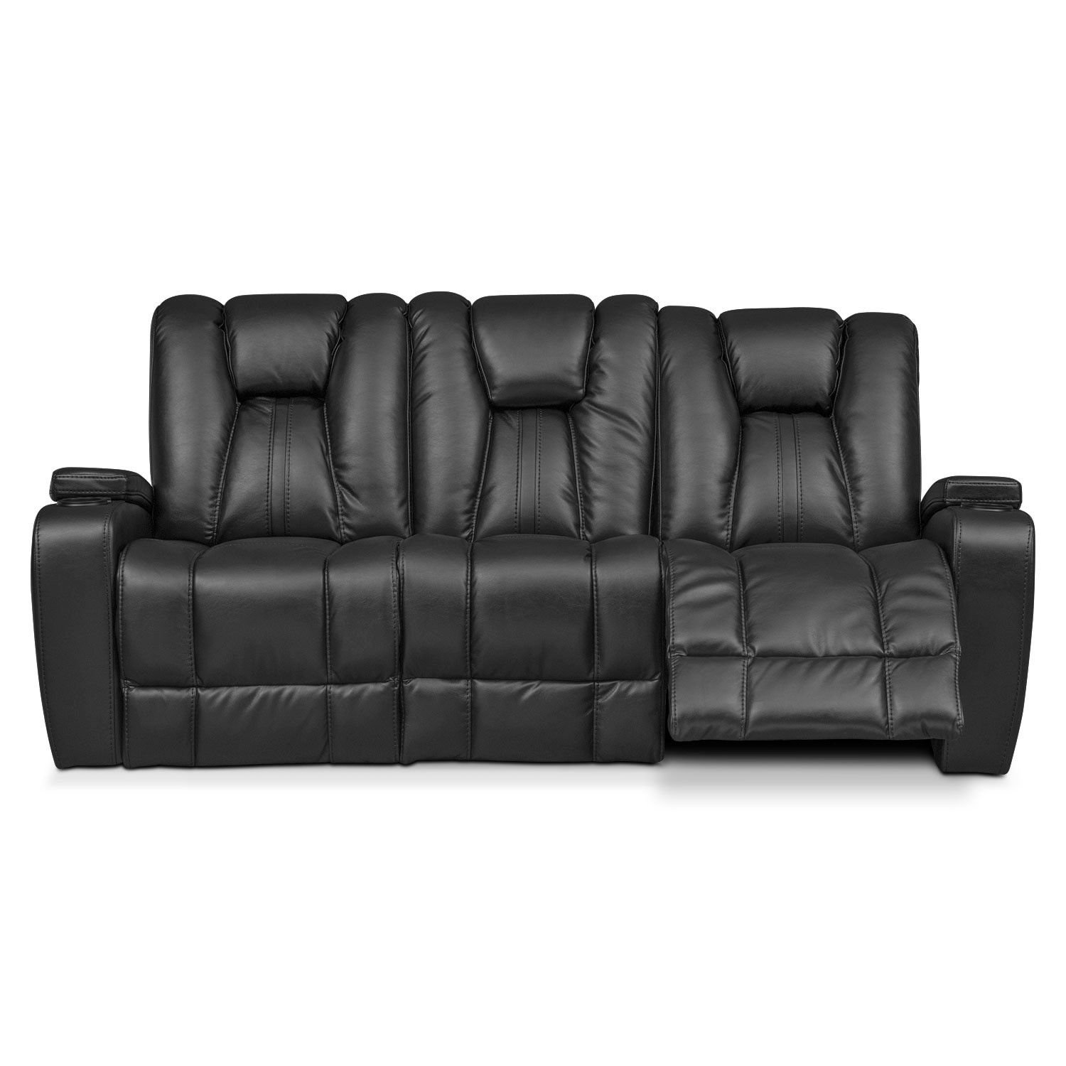Power Recliner sofa Sensational Pulsar Dual Power Reclining sofa Black Inspiration