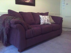Purple Sleeper sofa Stunning Baffling so Heres Our Pretty New Couch Ion Purple Velvet Image