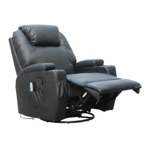 Recliner sofa Chair Stylish Foxhunter Bonded Leather Massage Cinema Recliner sofa Chair Pattern