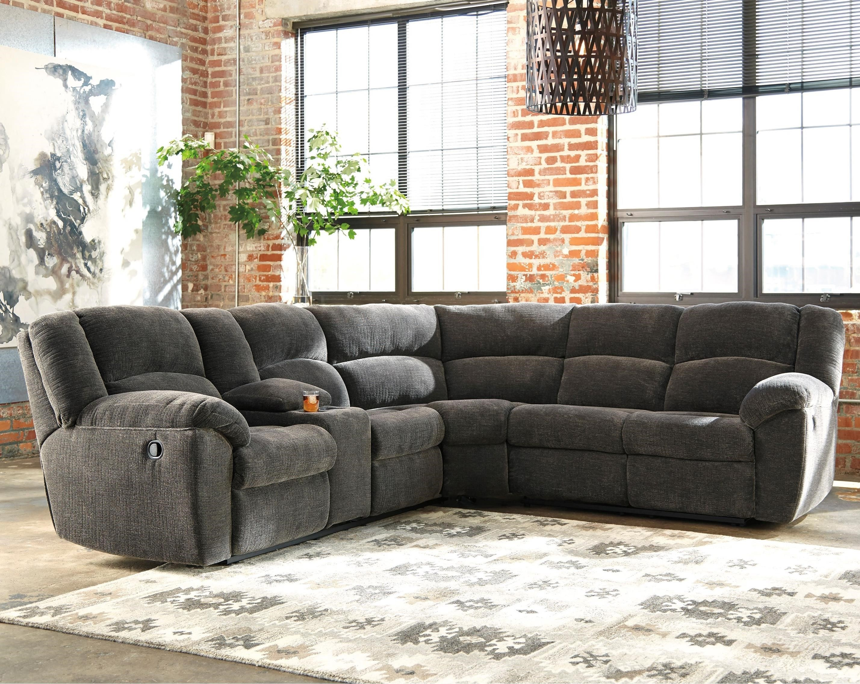 Reclining Sectional sofa Excellent Benchcraft Timpson Reclining Sectional with Storage Console Online