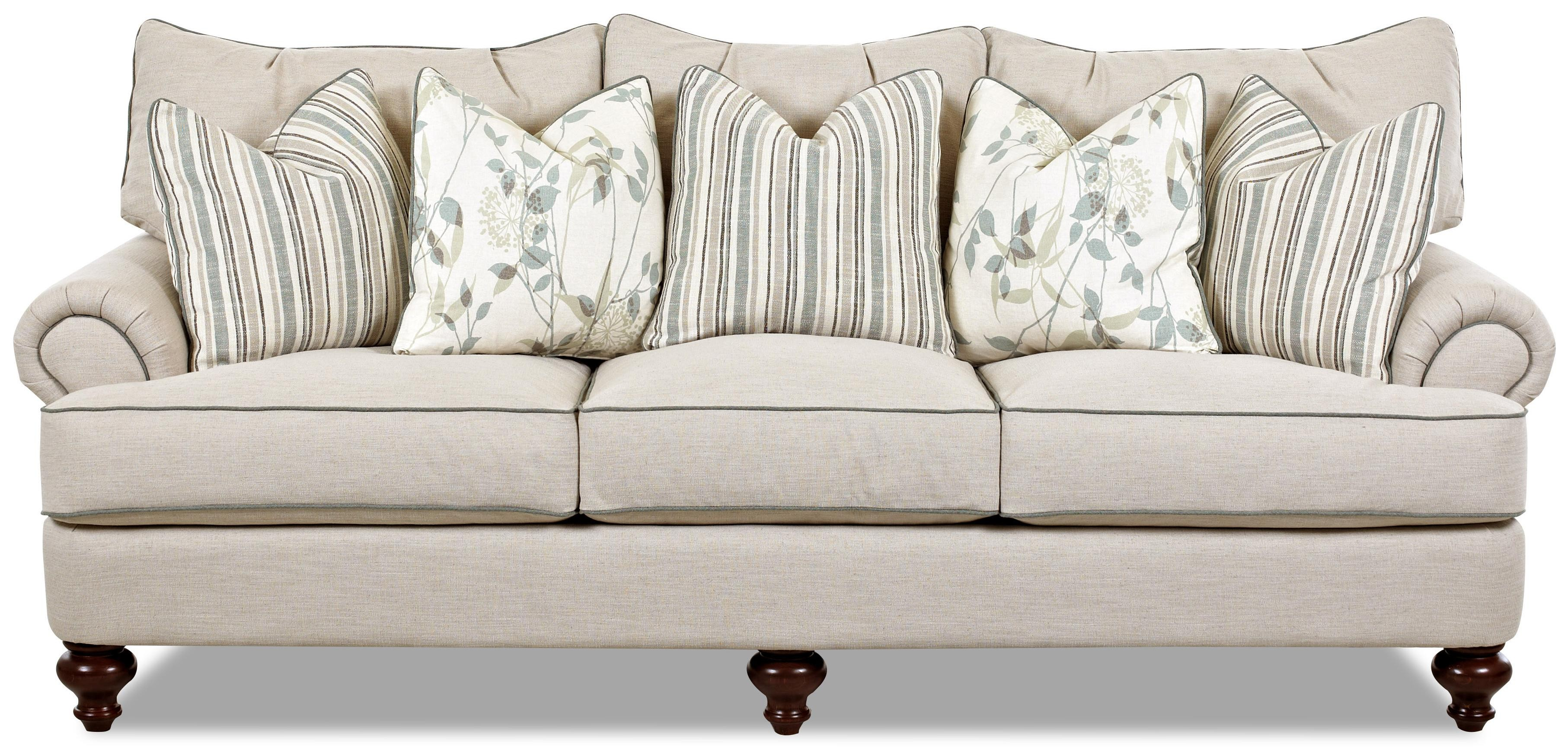 Shabby Chic sofa Elegant Shabby Chic Down Blend sofa by Klaussner Décor