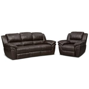 Sofa and Recliner Contemporary Aldo Manual Reclining sofa and Recliner Set Brown Plan