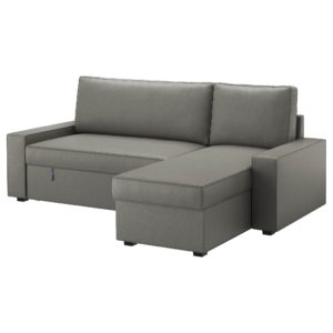 Sofa Bed Chaise New Vilasund sofa Bed with Chaise Longue Borred Grey Green Ikea Décor