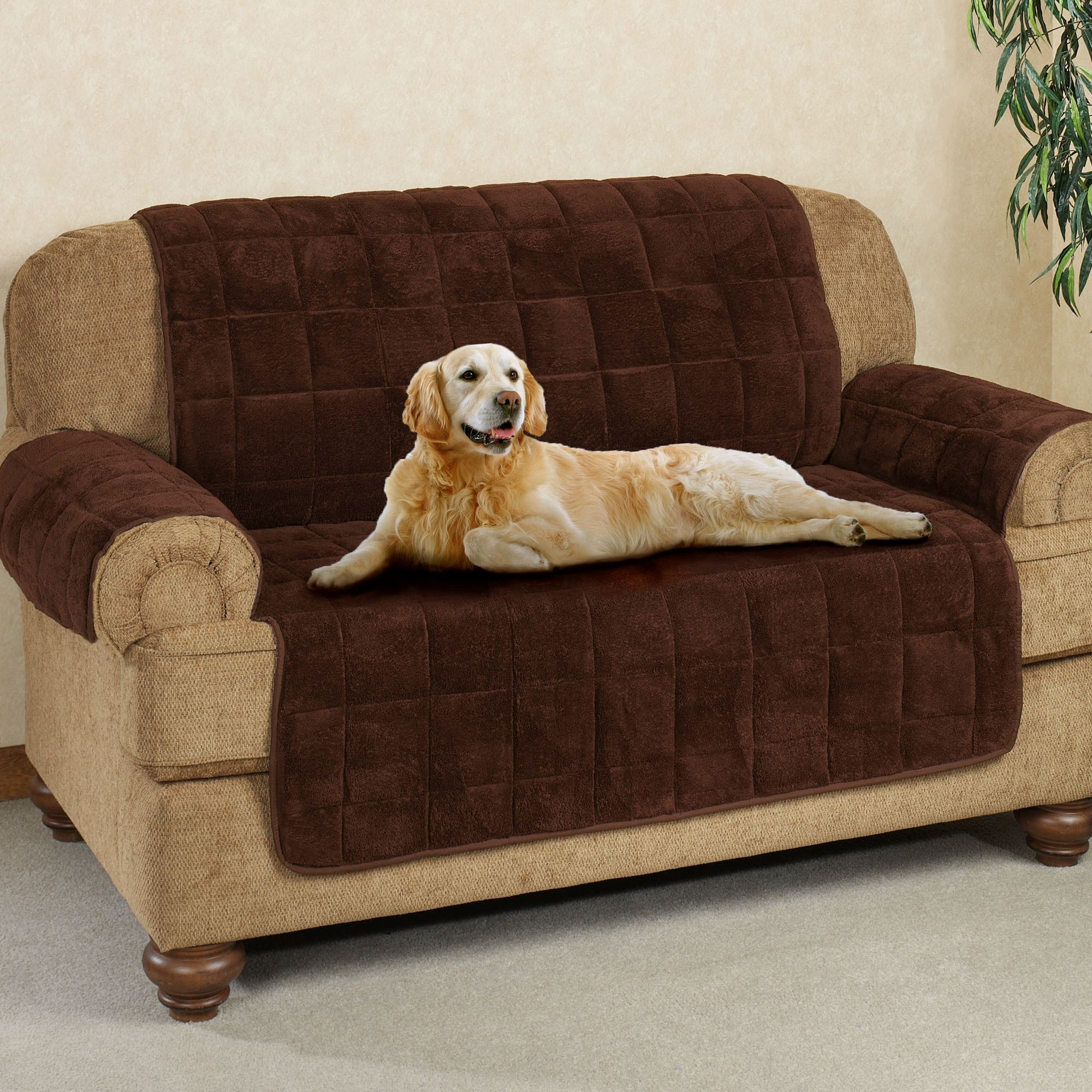 Sofa Covers for Dogs New Microplush Pet Furniture Covers with Longer Back Flap Photo