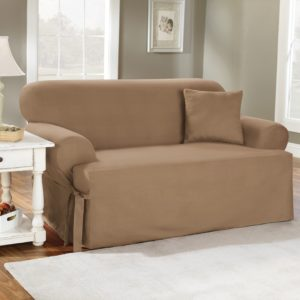 Sofa T Cushion Slipcover Best Of Sure Fit Cotton Duck T Cushion sofa Slipcover Layout
