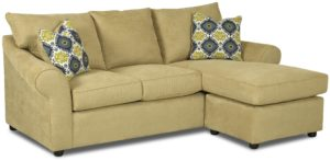 Sofa with Chaise Lounge Lovely sofa with Reversible Chaise Lounge by Klaussner Picture