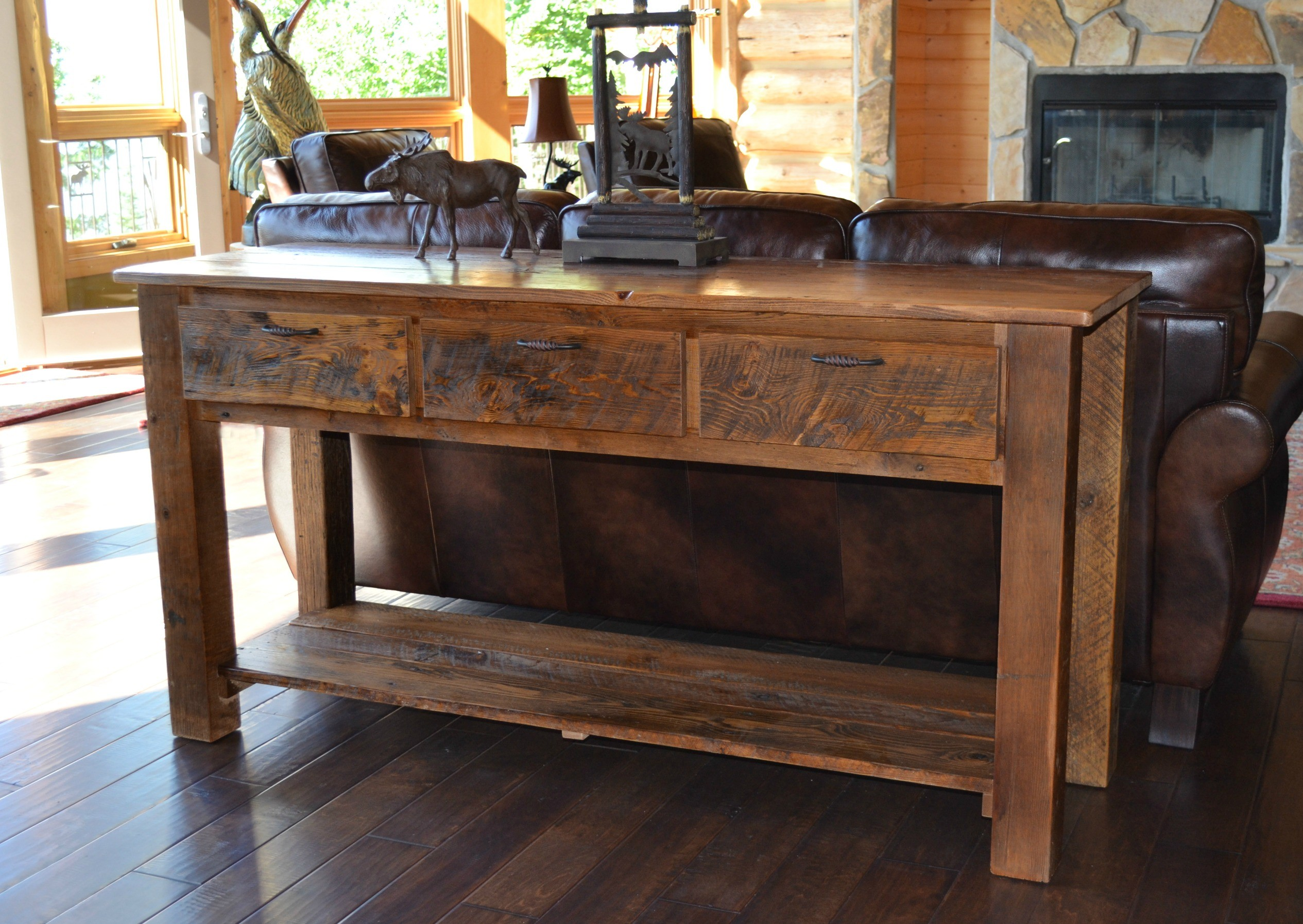 Awesome Solid Wood Sofa Table Model Modern Design Ideas