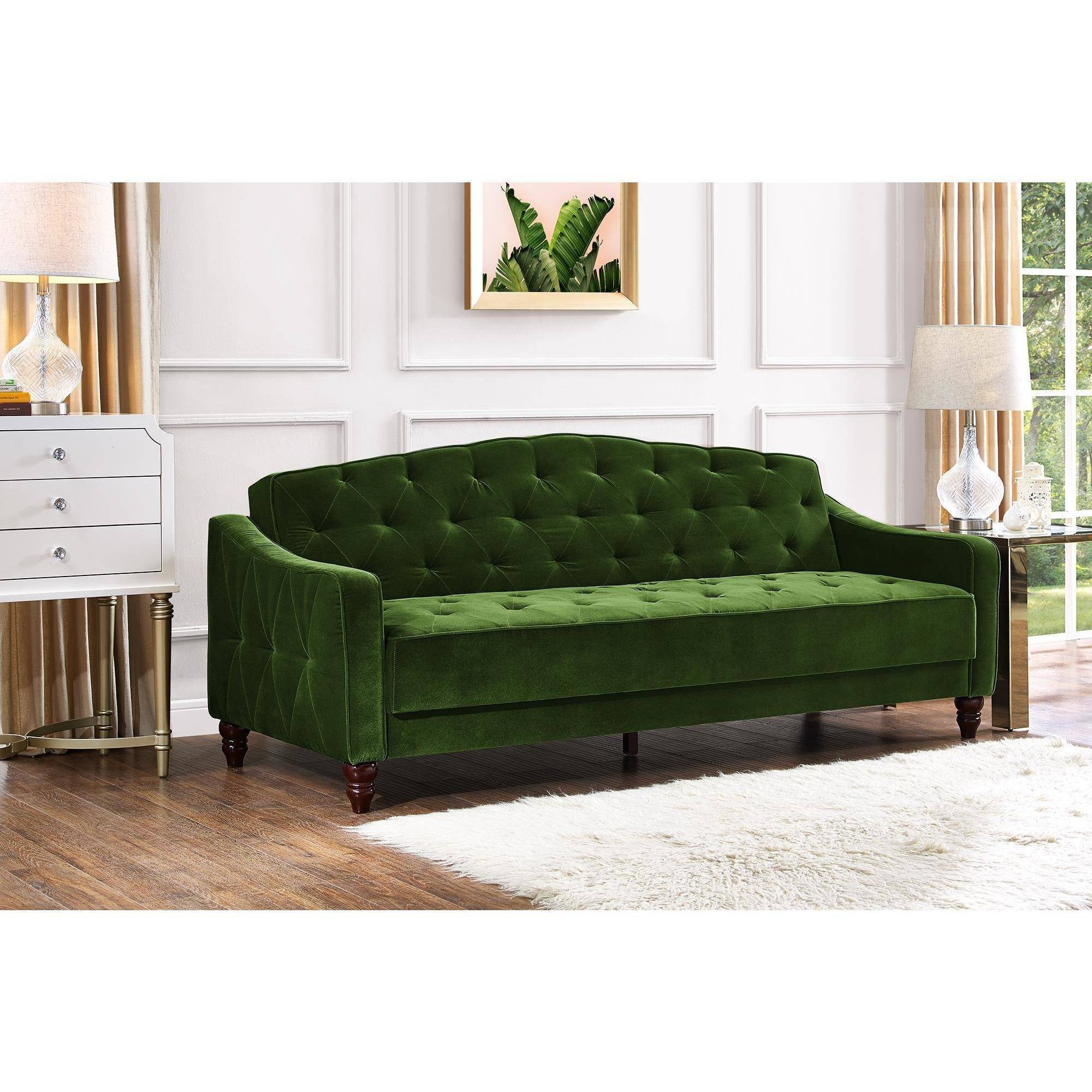 Tufted Sleeper sofa Contemporary Novogratz Vintage Tufted sofa Sleeper Ii Multiple Colors Portrait