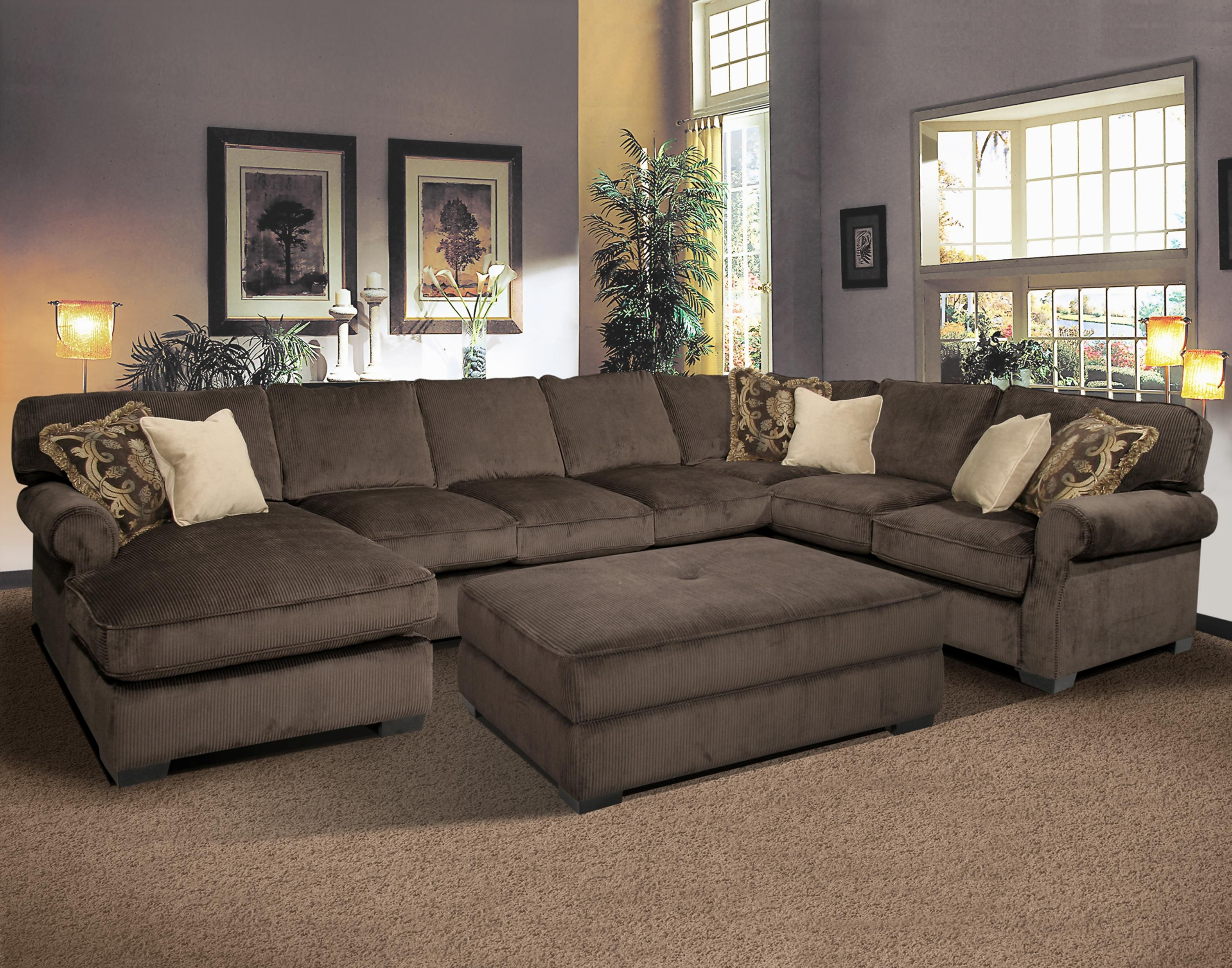 U Shaped Sectional sofa Excellent sofa Mediterranean Style U Shaped Sectional sofa with Recliners Pattern