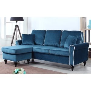 Velvet Sectional sofa Wonderful Traditional Small Space Velvet Sectional sofa with Reversible Portrait