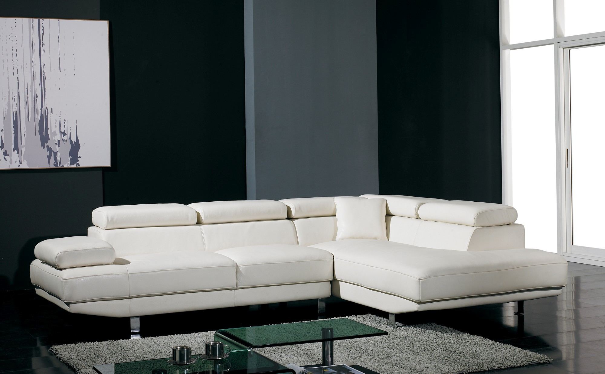 White Leather Sectional sofa Stunning T Ultra Modern White Leather Sectional sofa Décor